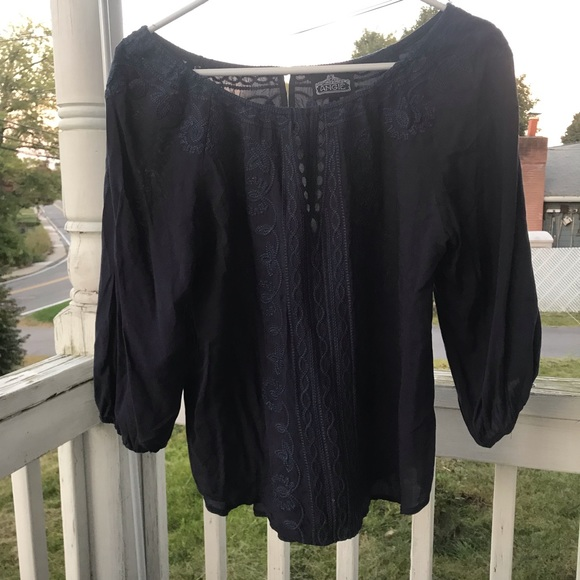 Angie Tops - Navy blue tunic
